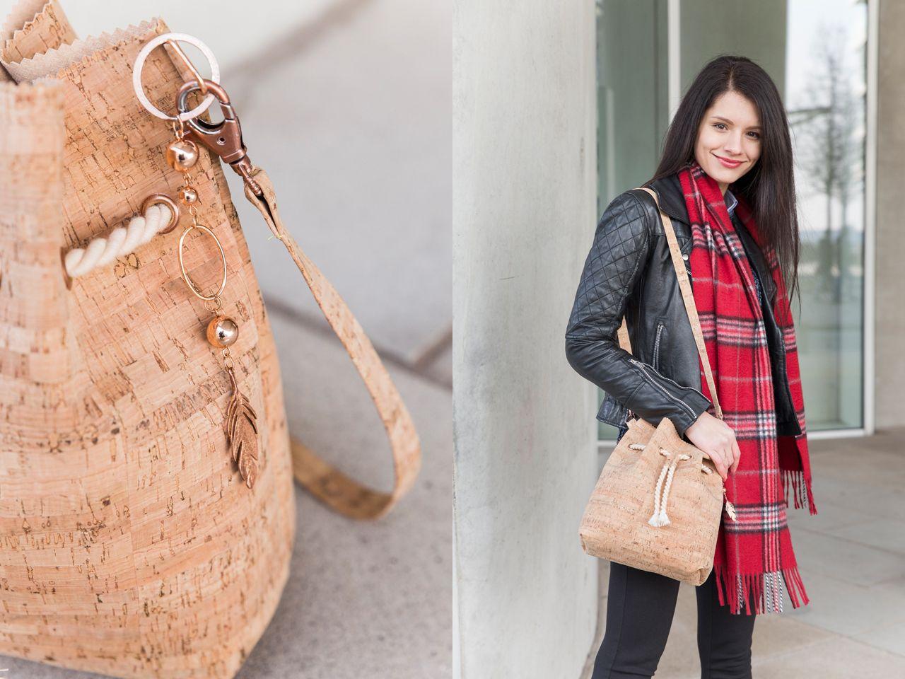 Bucket Bag Tasche Tutorial Korkstoff_MG_4464col | Taschen ...