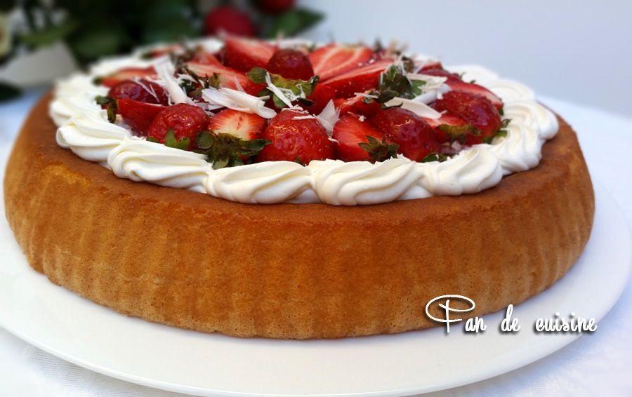 Tarte renversée fraises-chocolat blanc