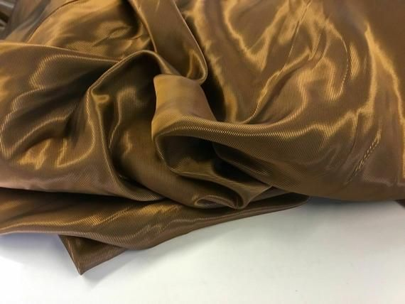 "NEW Beautiful Designer Viscose Shot Gold Jacquard Lining Fabric 66/"" 168 cm Cloth"