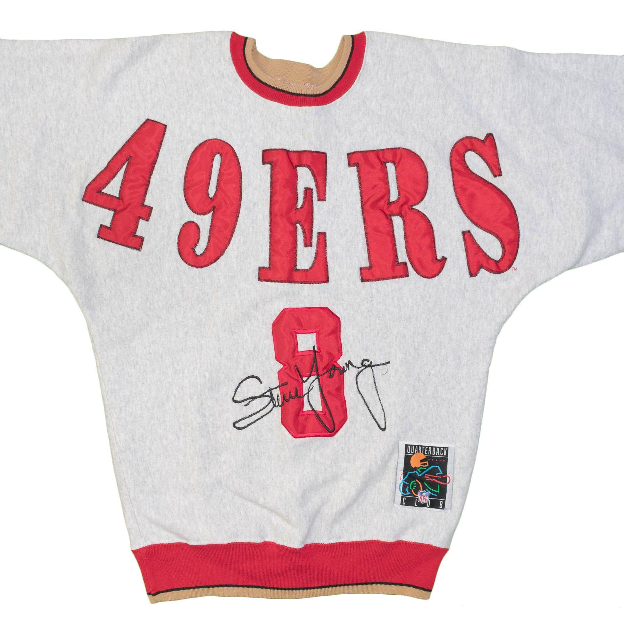 6966f11e San Francisco 49ers Sweatshirt Steve Young #8 Vintage Large NFL ...