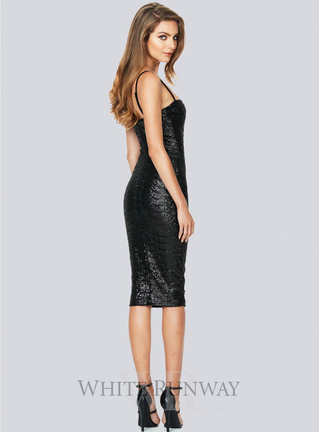 Starlet Strap Midi. A gorgeous midi dress by Nookie. A sequin slip ...