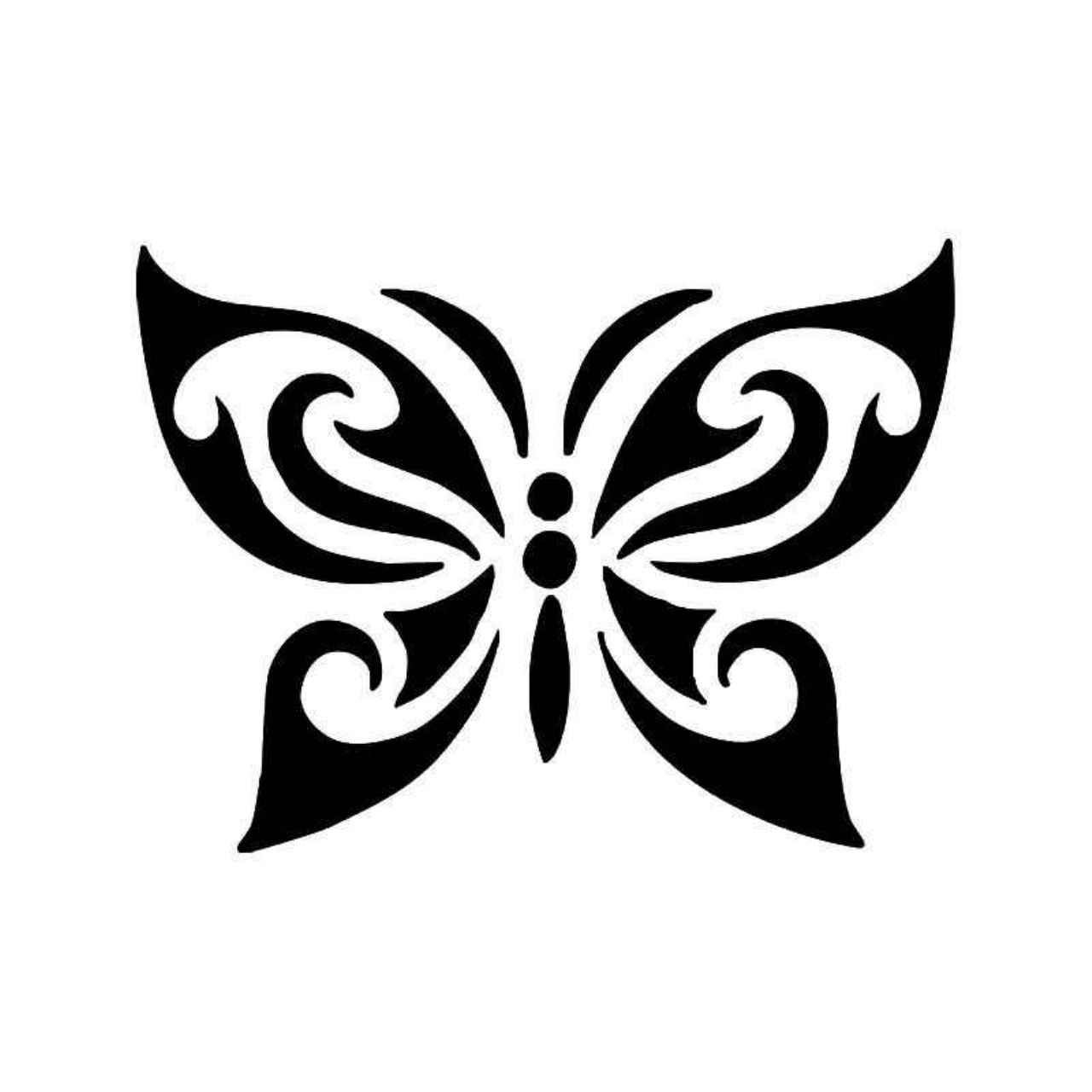 Tribal Butterfly 8 Vinyl Decal Sticker