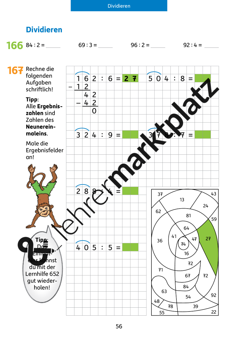 Mathe trainieren 4. Klasse: Dividieren – Mathematik | Pinterest ...