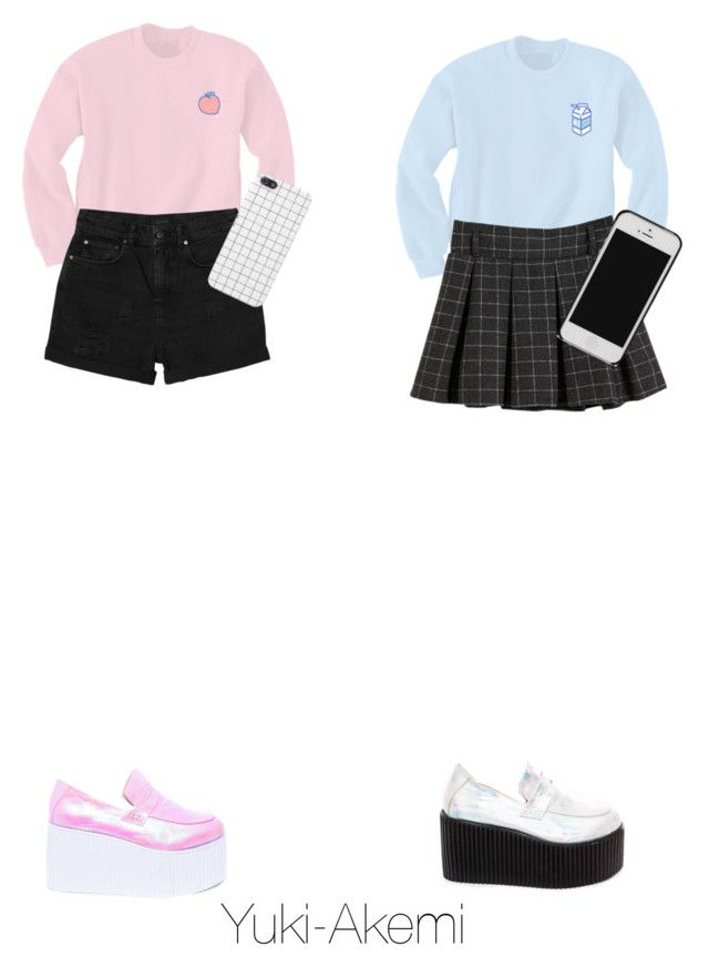 """""""Twins~~"""" by yuki-akemi ❤ liked on Polyvore featuring Monki and UNIF"""
