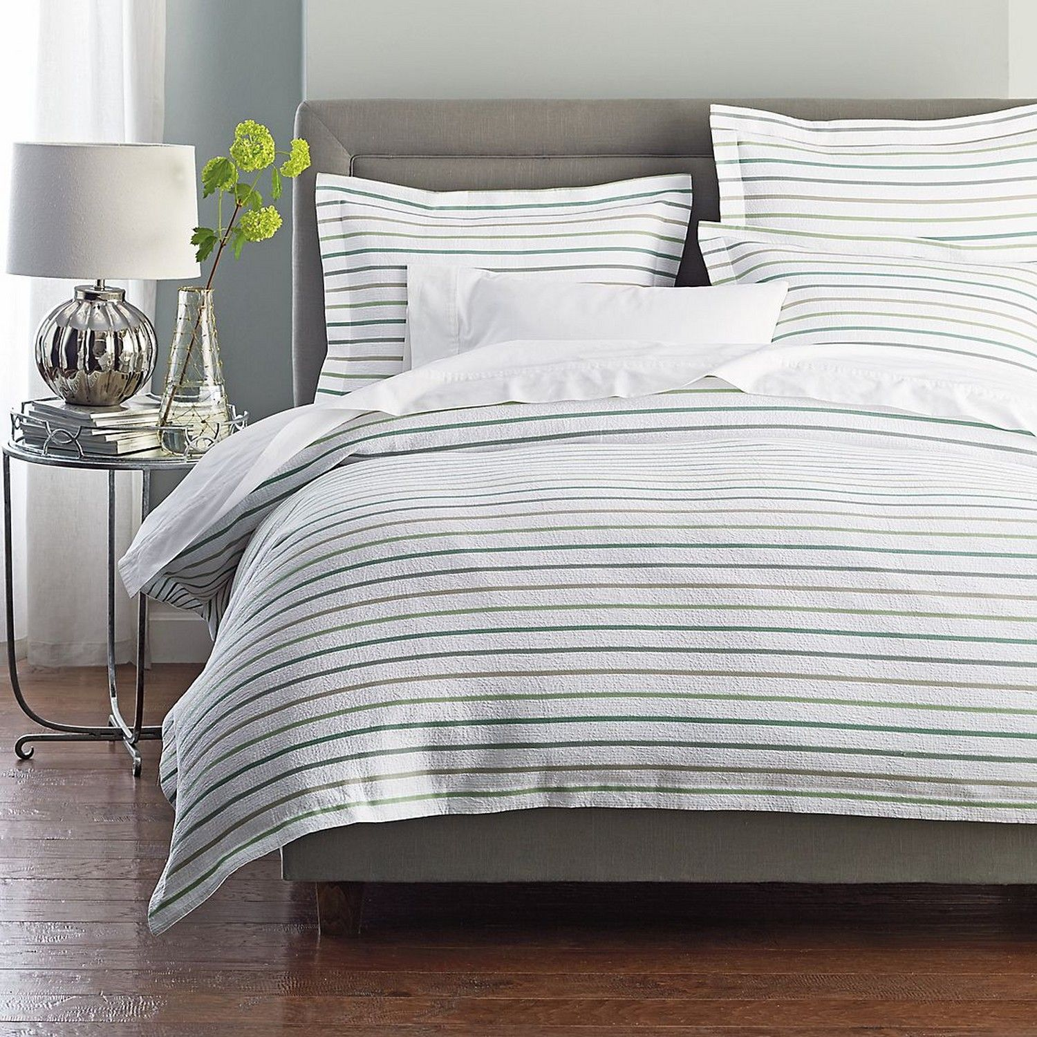 Company Store striped duvet Guest room bed, Home decor