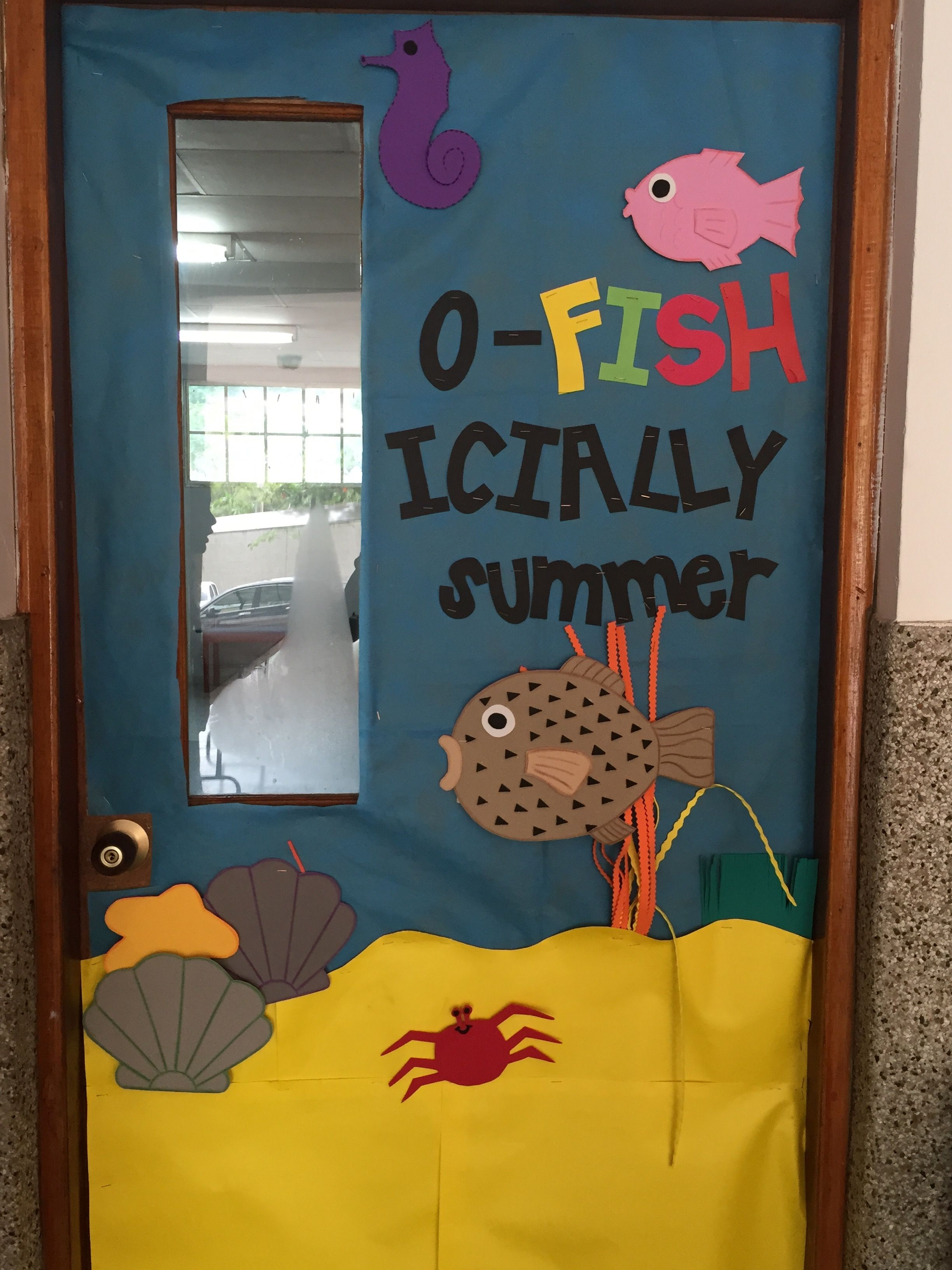 Cartoon classroom door - Oficially On Vacations Classroom Door Ofishially Summer Classroom Door Farewell Classroom Door Sea Classroom Door