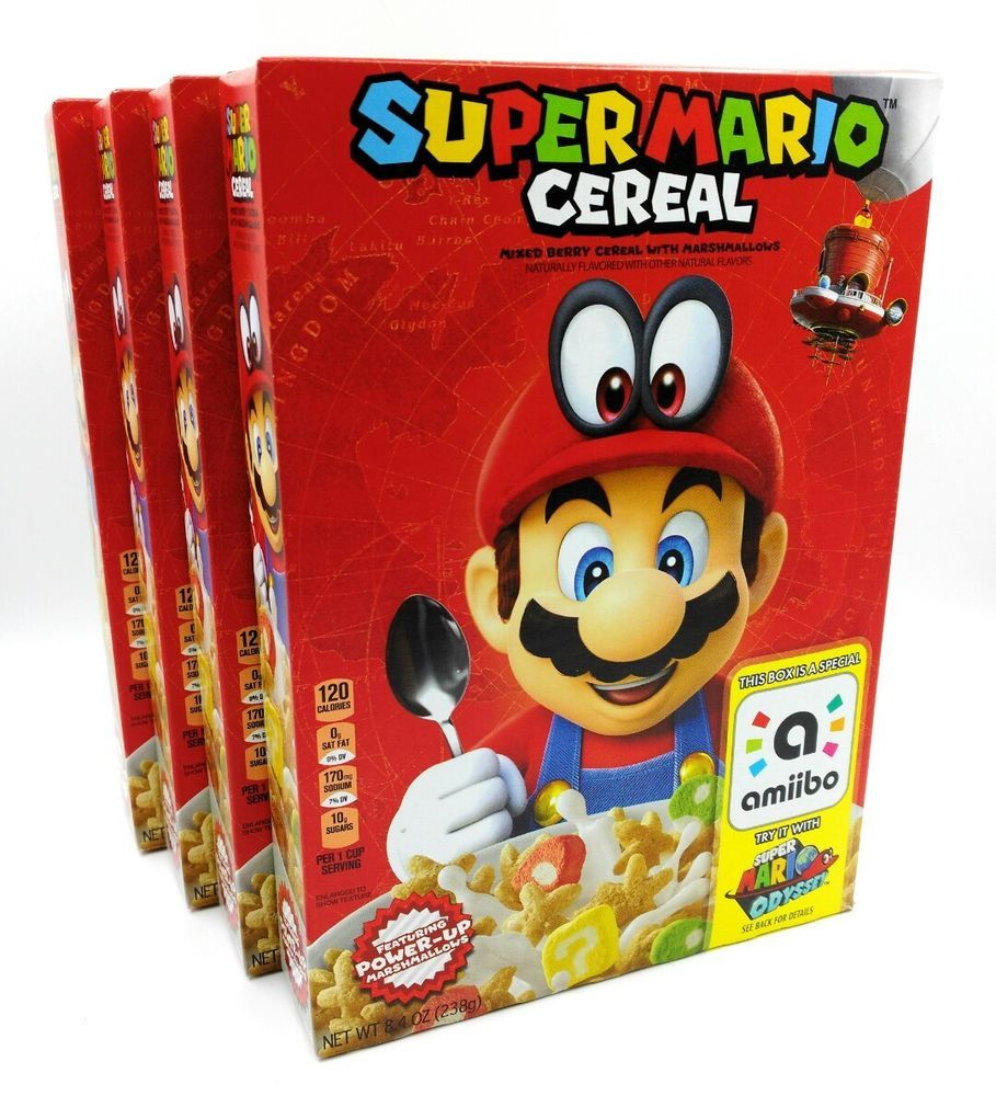 Kellogg's Super Mario Odyssey Cereal Limited Edition
