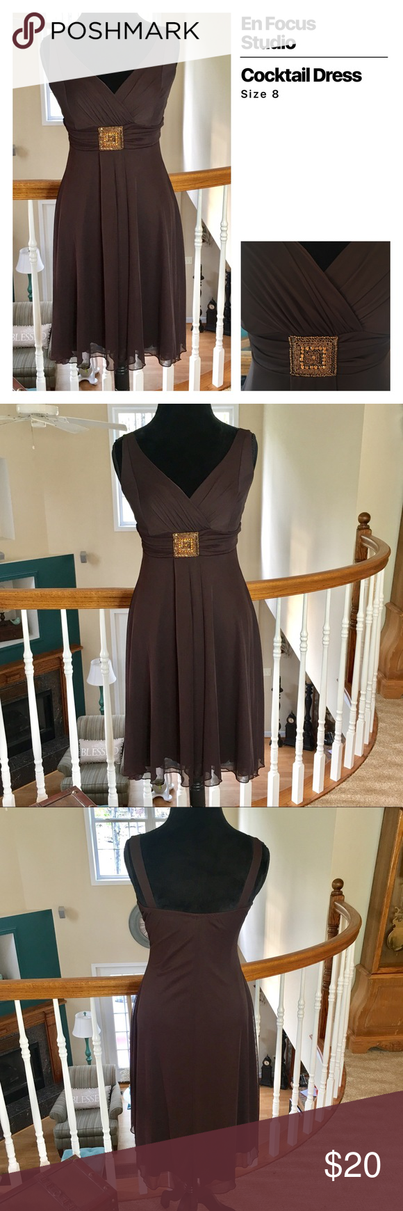 En Focus Studio Cocktail Dress | Chocolate brown, Bodice and Studio