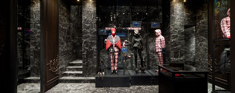 231c5433b milan: moncler flagship store opening | moodboard for showroom ...
