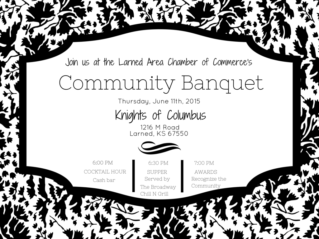 Save the Date for the Annual Community Banquet: Thursday, June 11th