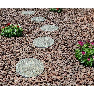 12 In X 1 5 In Round Exposed Aggregate Pathway Stepstone 12 Pack Outdoor Landscape Design Exposed Aggregate Landscape Pavers