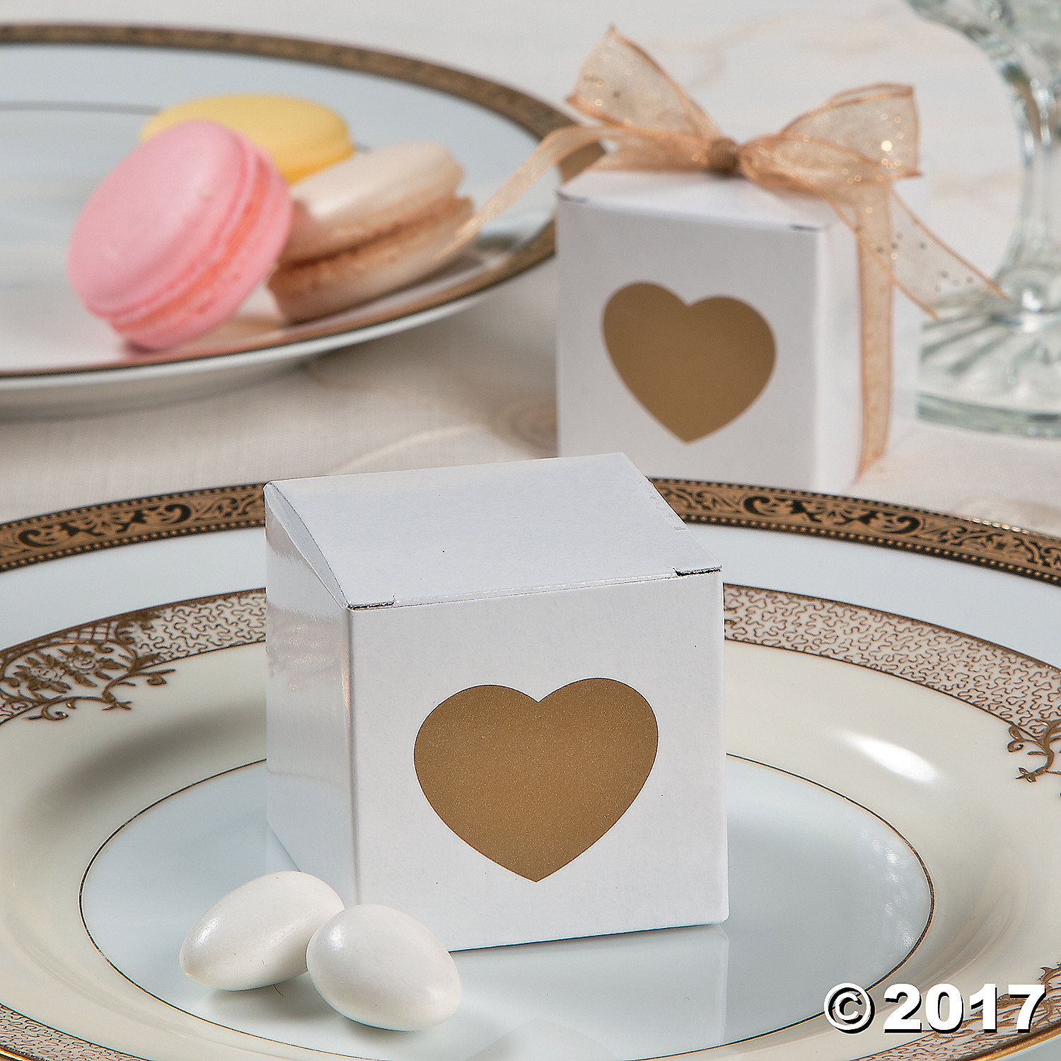 Gold Heart Favor Boxes | Favors, Simple weddings and Weddings