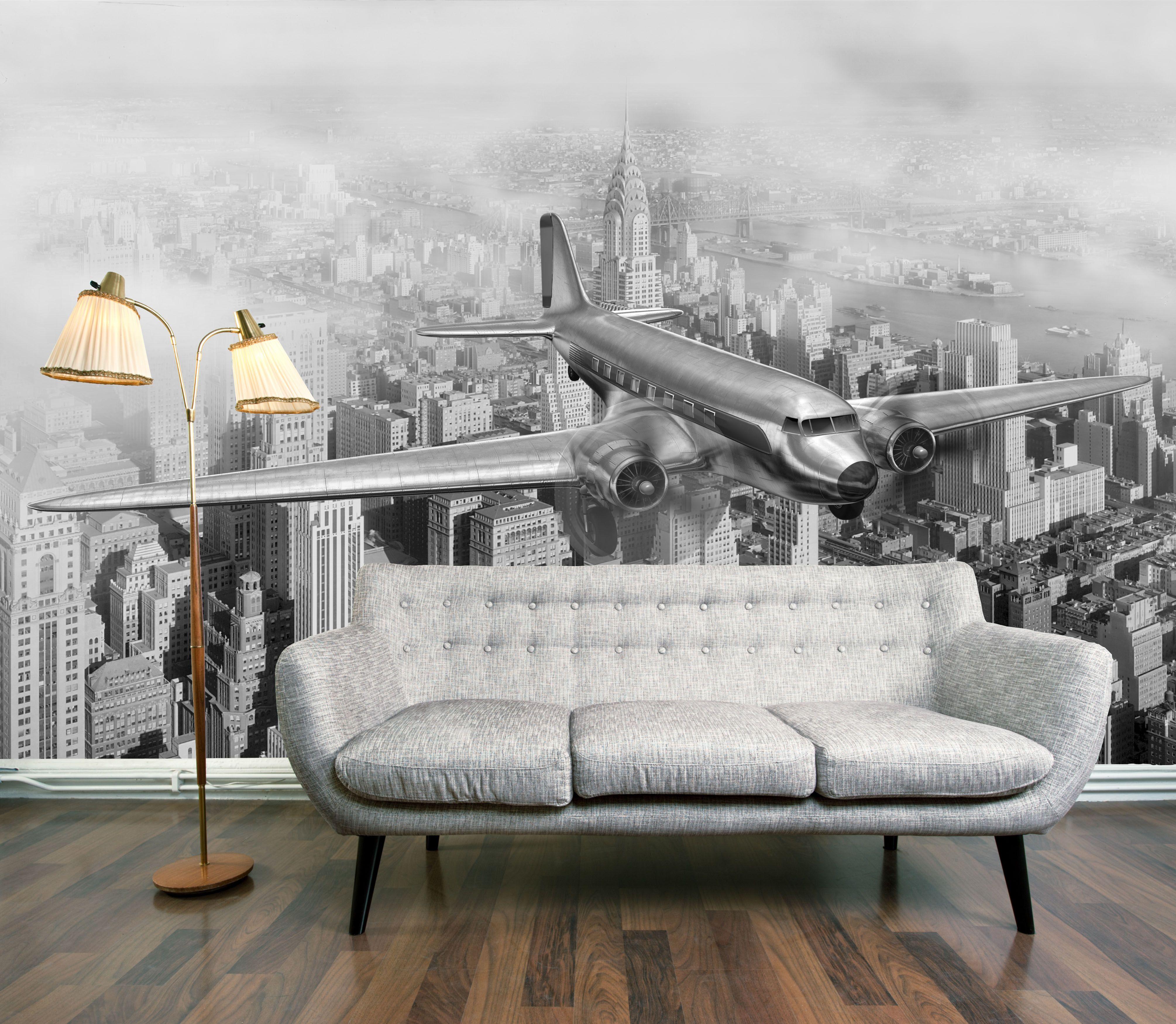 Manhattan Flight Mural (Manhattan Flight)  Digetex Wallpapers  An
