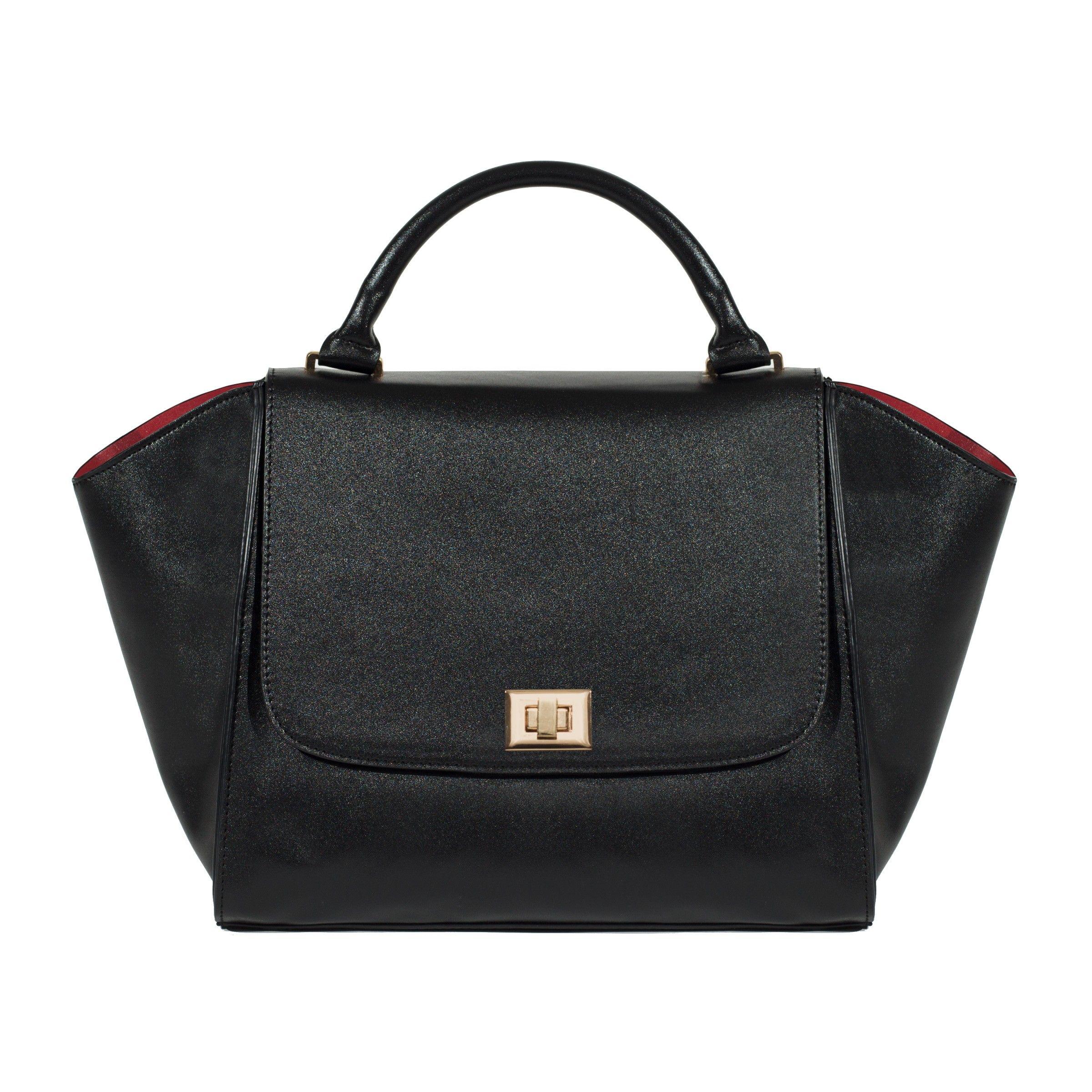 Marsi Bond Ginger Satchel Handbag Vegan Leather Purse With Washable Zip Out Lining