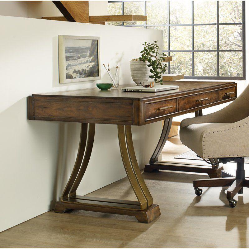 Big Sur Solid Wood Writing Desk In 2020 Solid Wood Desk Wood