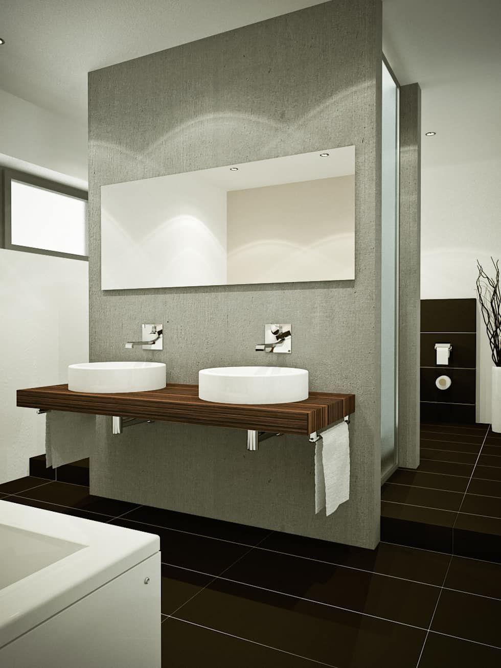 Bad moderne badezimmer von innenarchitektur schucker & krumm modern   Badezimmer, Kleine ...