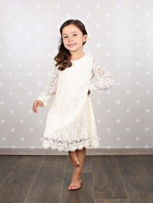 Flower Girl Outfits for Every Wedding Style: Flower Girl Dress for a Rustic Barn Wedding