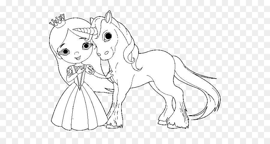 Livro De Colorir A Princesa E O Unicornio De Fadas Adulto