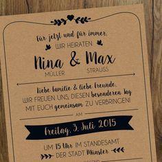 Einladungskarten   Hochzeit | Einladung | Vintage   Ein Designerstück Von  Messismine Bei DaWanda