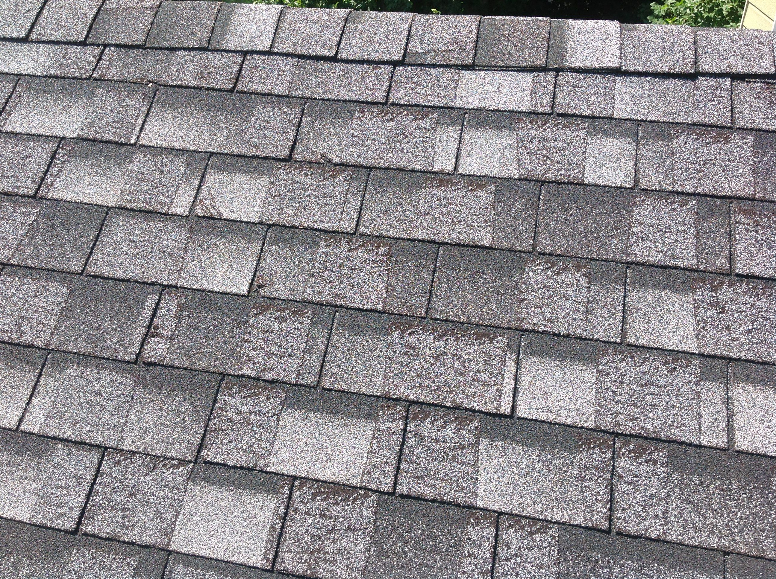 Blistered Chalet Shingles This Is A Discontinued Defective Shingle Made By Atlas The Blistering Effect Causes The Granules To Loose Roofing Shingling Repair