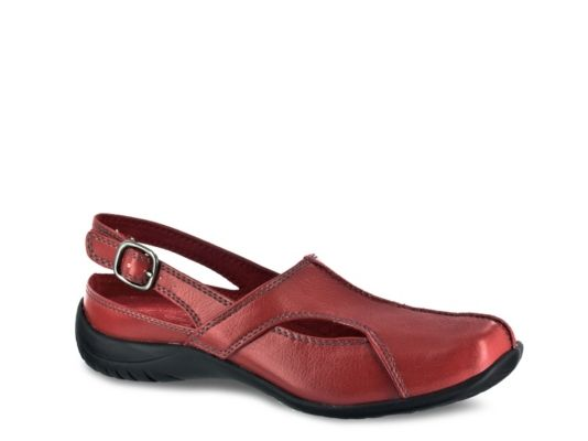 Women's Easy Street Sportster Clog - Red Faux Leather
