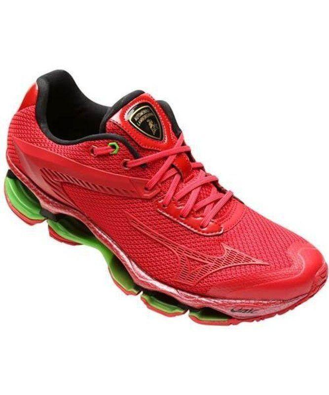 837eea1a7e Tênis Masculino Mizuno Wave Prophecy 4 Lamborghini - Vermelho c  Verde -  dedsonmultishopvirtual R 1.380