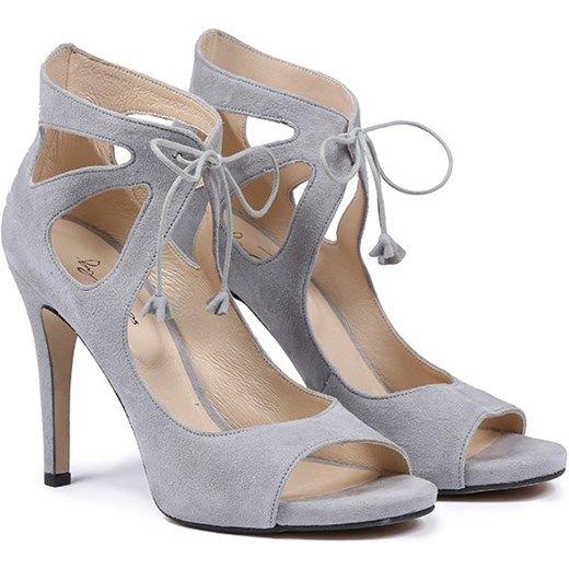Sandaly Damskie Replay Skorzane Heels Shoes Peep Toe