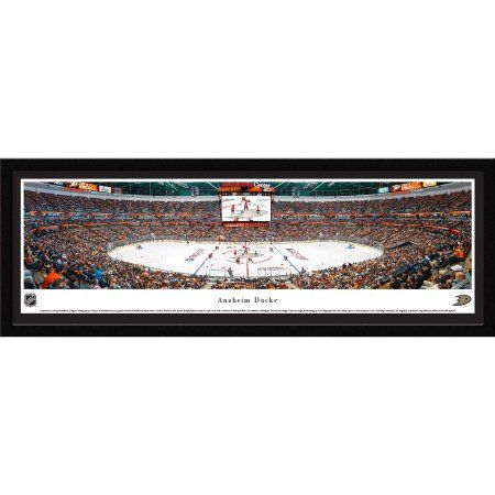 Anaheim Ducks - Center Ice at Honda Center - Blakeway Panoramas NHL Print with Select Frame and Single Mat
