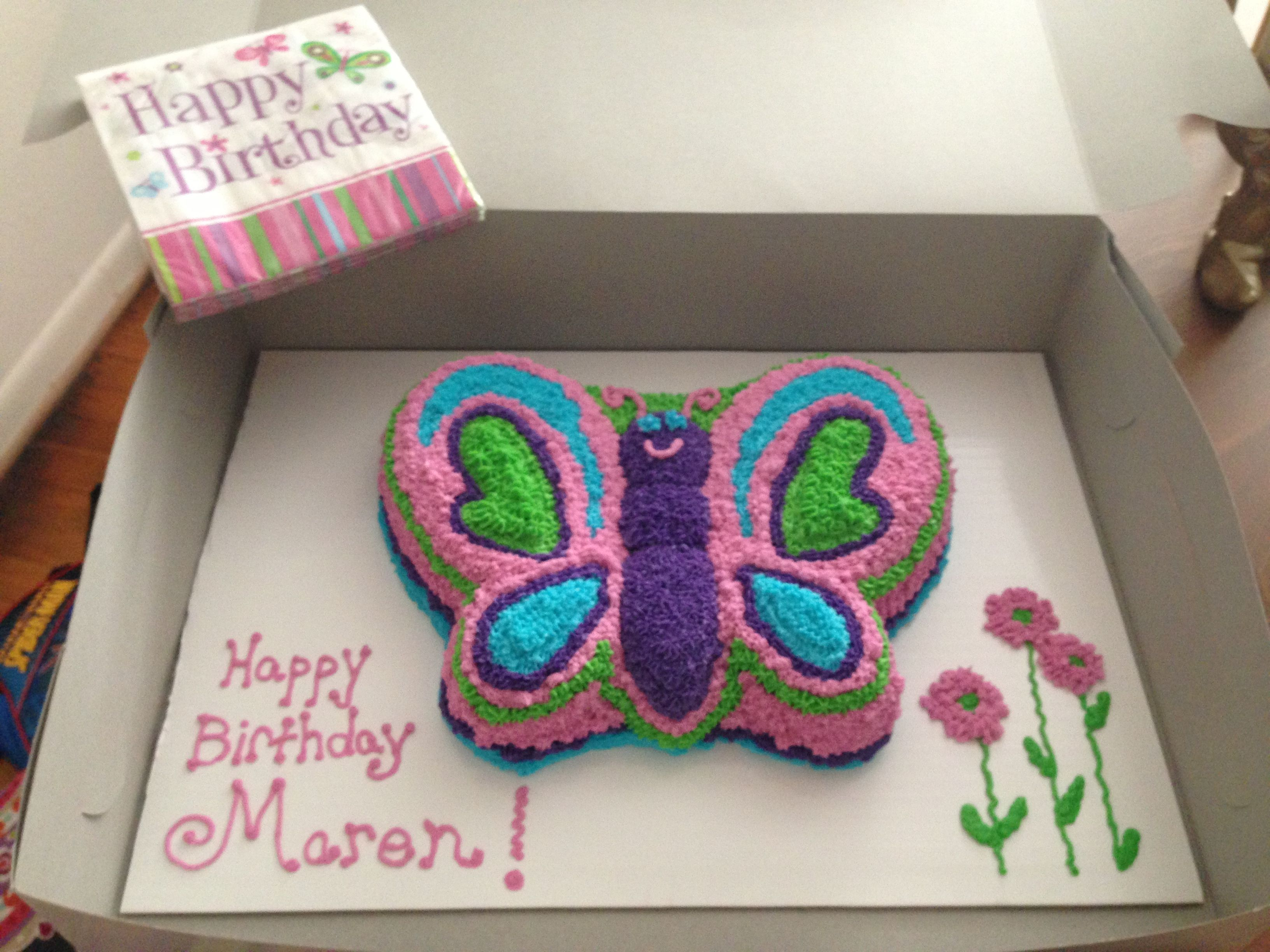 Wilton Butterfly Cake Pan Colors To Match Party Decor Butterfly Cakes Butterfly Birthday Party Butterfly Birthday