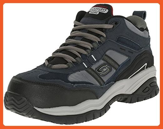 Skechers Men S Work Relaxed Fit Soft Stride Canopy Comp Toe Shoe