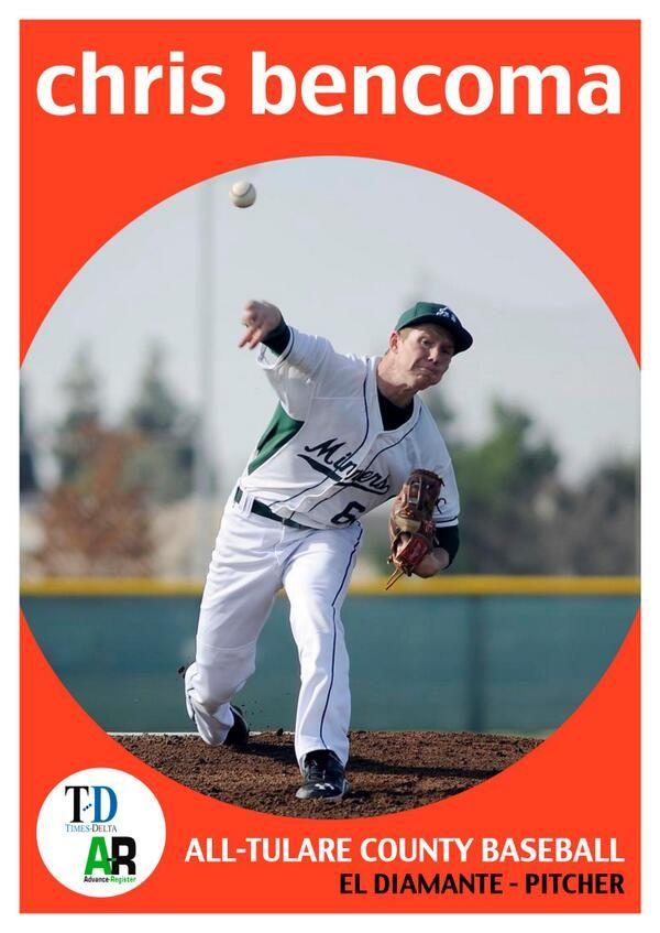 Tulare County Baseball Chris Bencoma With Images Tulare County Baseball Tulare