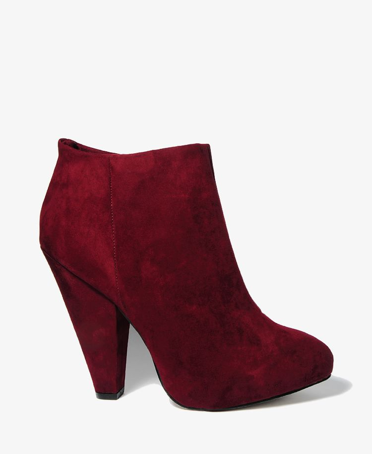 Zipped Booties   FOREVER21   $37