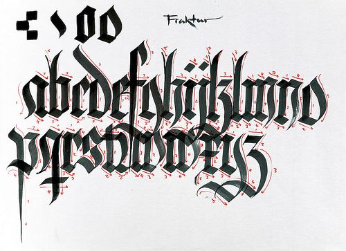 Frakture calligraphy - Google Search
