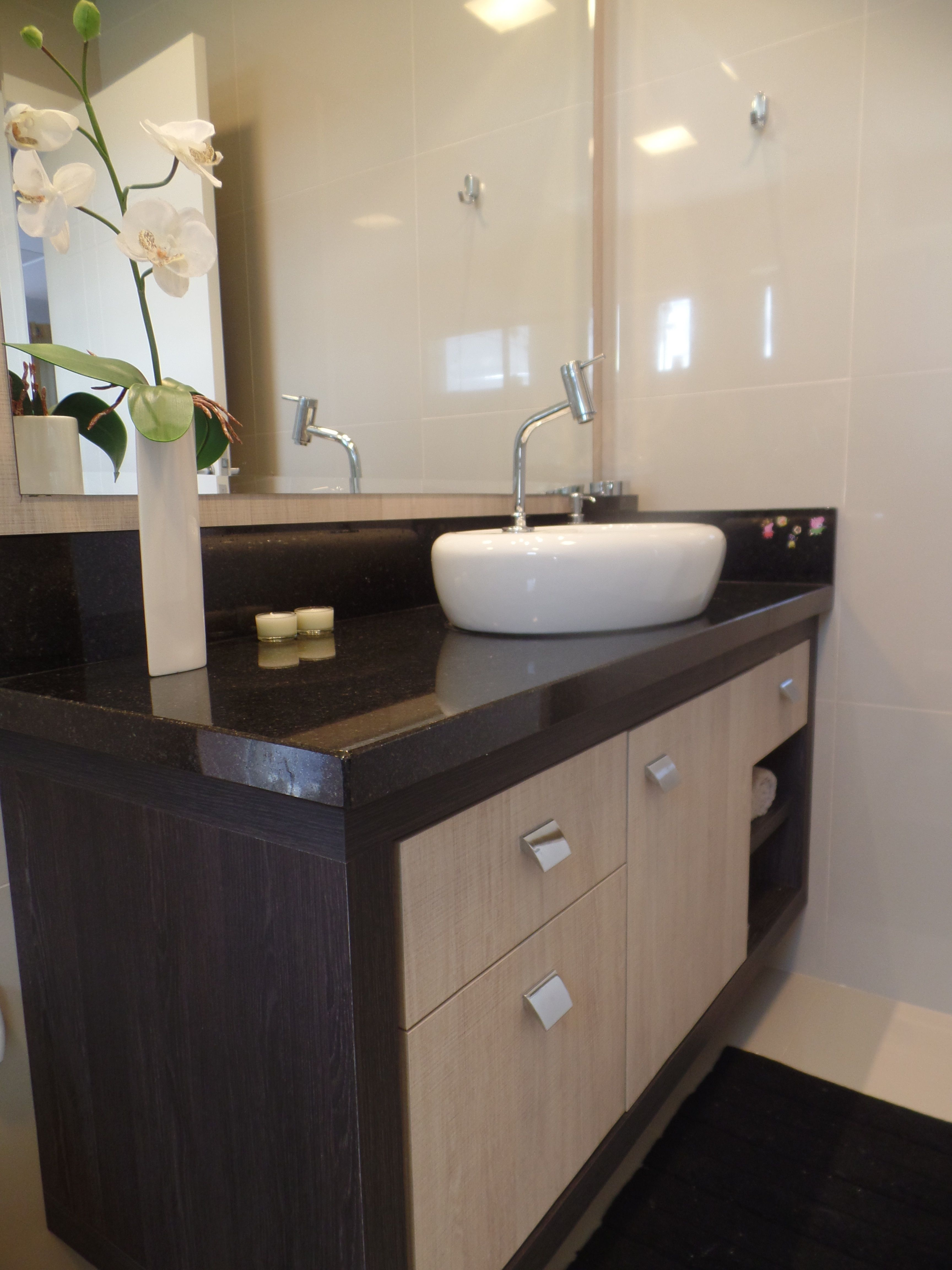 Limpar Banheiro Preto : Bancada de banheiro em granito preto s?o gabriel
