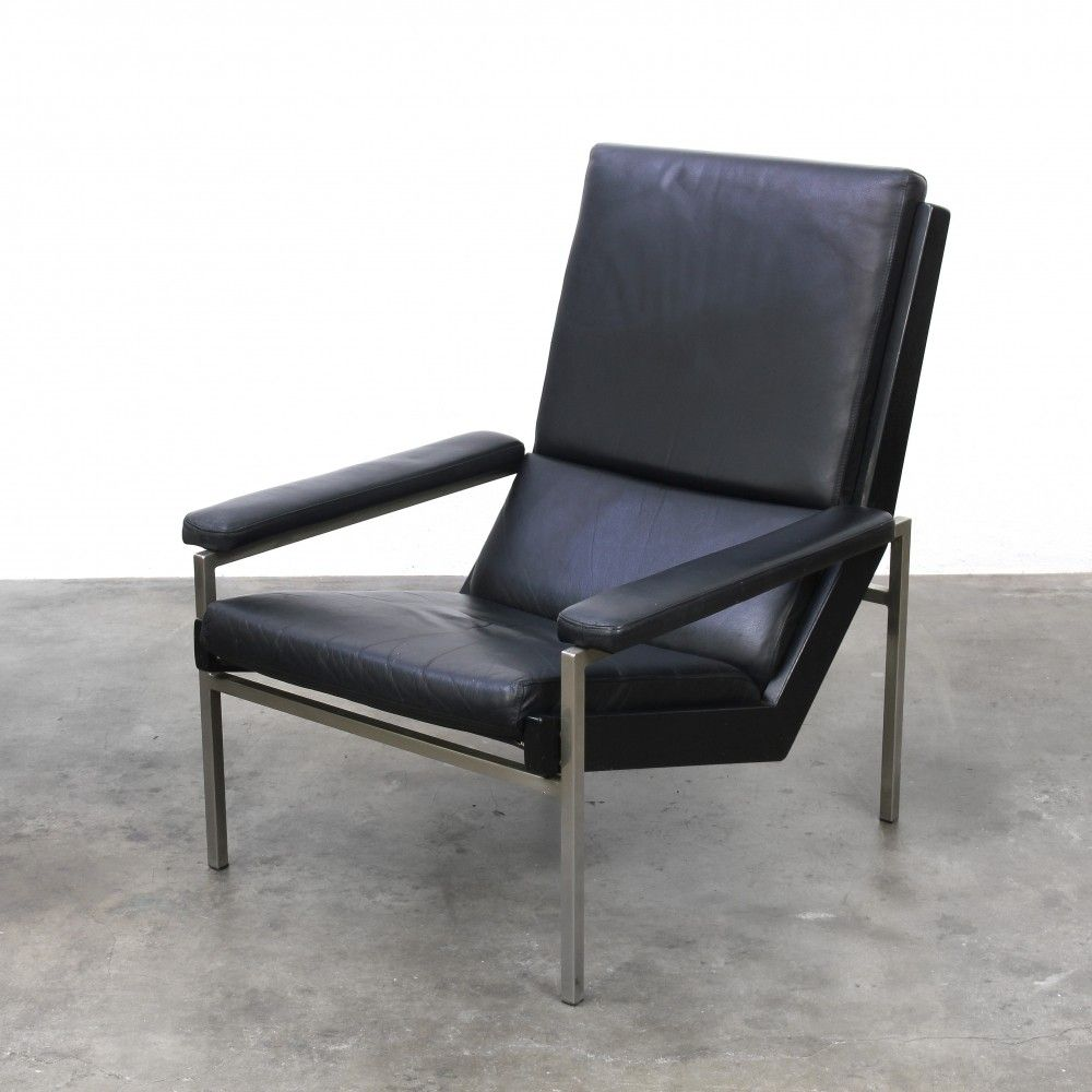 Pleasing Lotus Lounge Chair In Black Leather Designed By Rob Parry Pdpeps Interior Chair Design Pdpepsorg