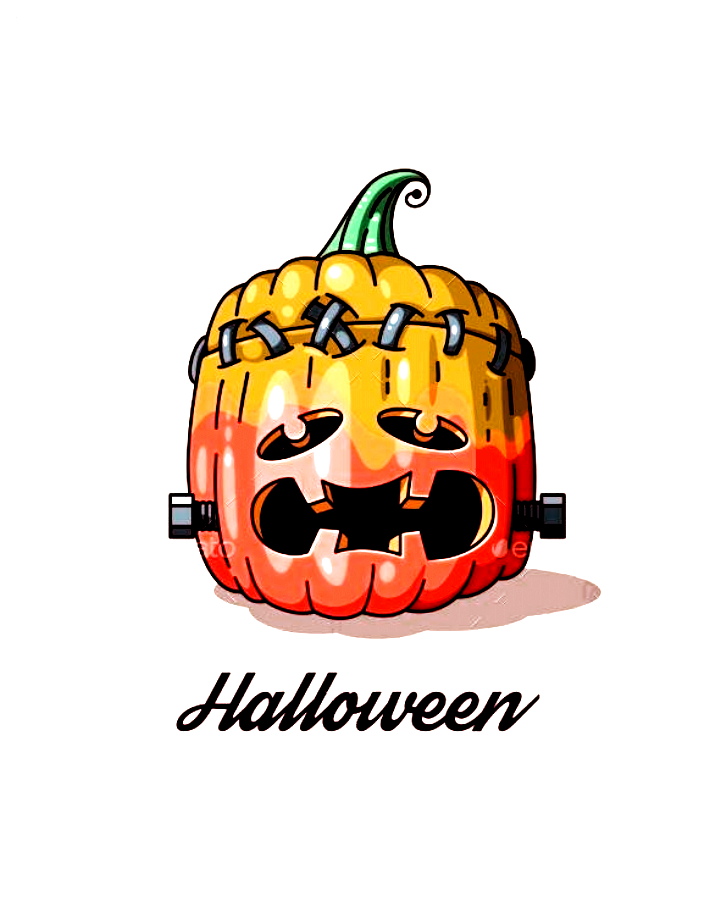 Illustration of funny cartoon pumpkin for Halloween