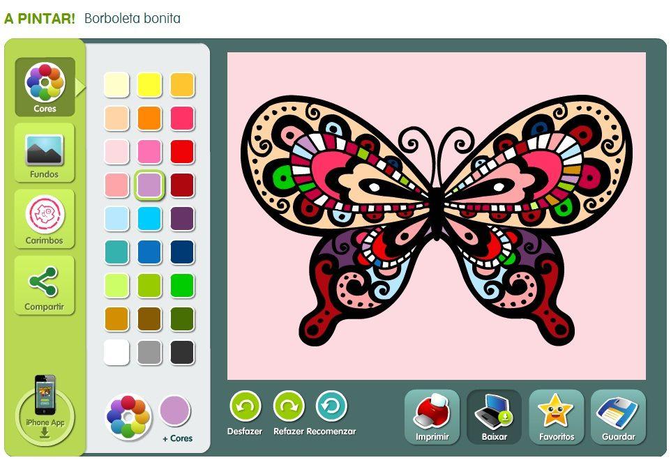 Desenhos Para Colorir Online Imagens Para Pintar Pelo Computador