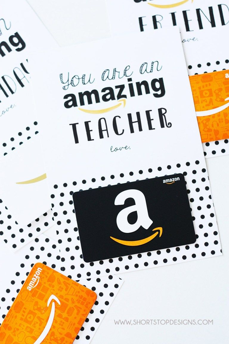 graphic regarding Printable Amazon Gift Card identified as Amazon Present Card for Trainer Printable Accurately Packaged