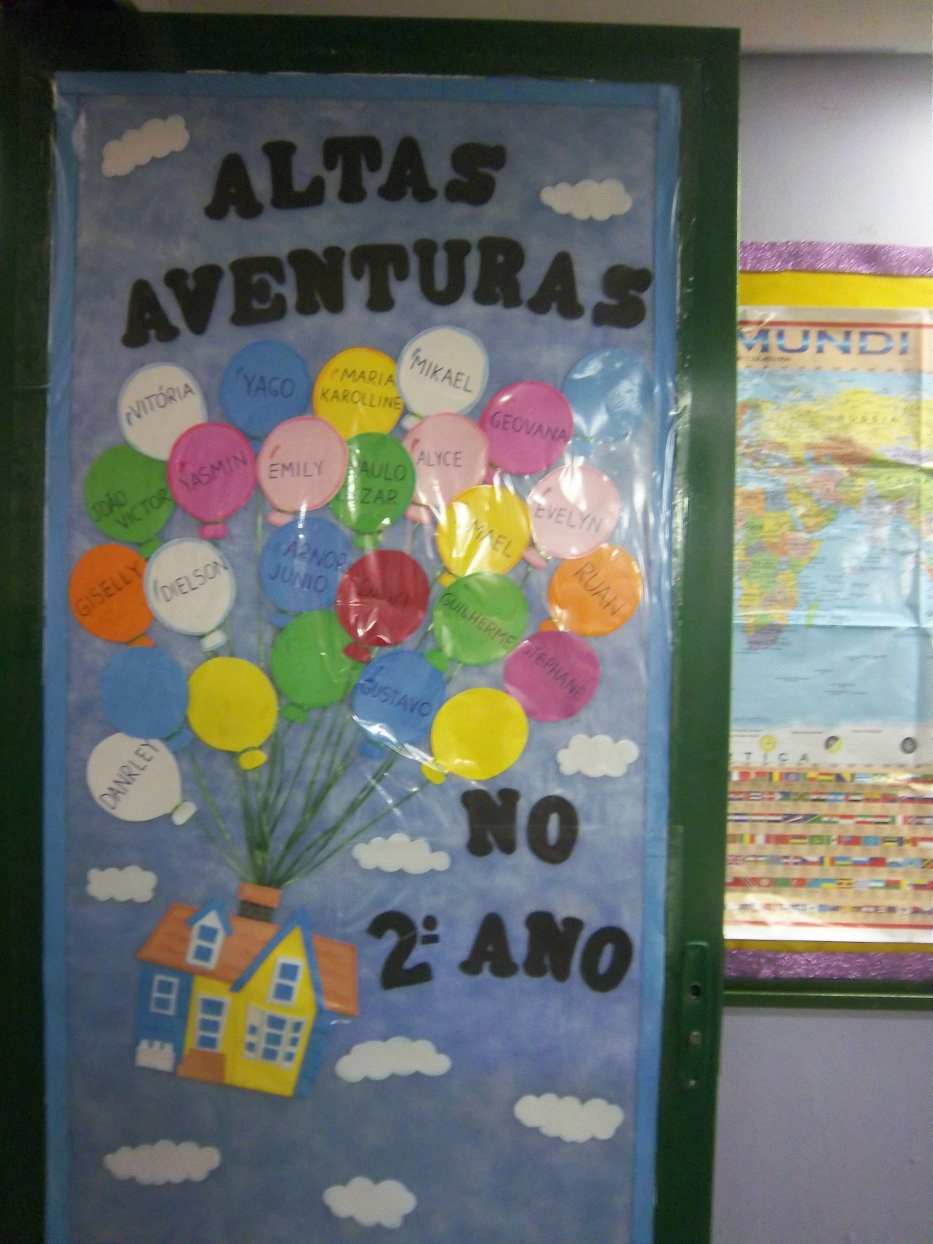 Decora O Da Porta Da Minha Sala De Aula Em 2014 Classe De  -> Decoracao Sala De Aula Ensino Fundamental