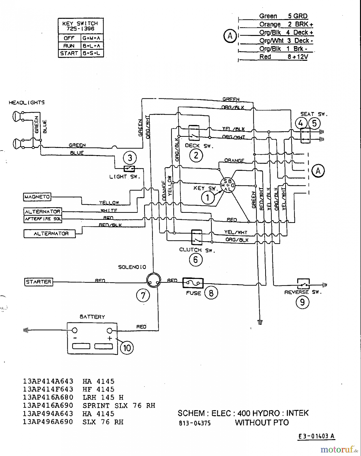 Craftsman 42 Riding Lawn Mower Wiring Diagram