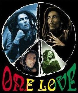 One love, one heart, lets get together and feel alright. Give thanks & praise to the Lord, & I will feel alright :)