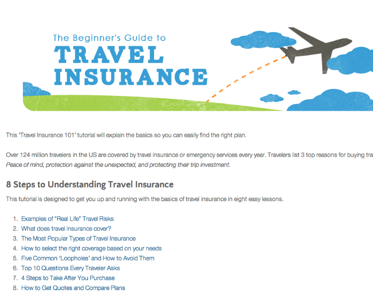 Travelers Insurance Quote This 8Part Tutorial Walks You Though The Basics Of Travel Insurance
