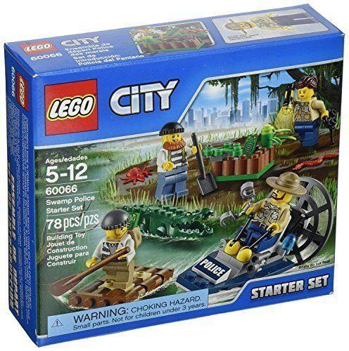 LEGO City (78pcs) Police Swamp Starter Set Boat Toy for Kids Figures ...