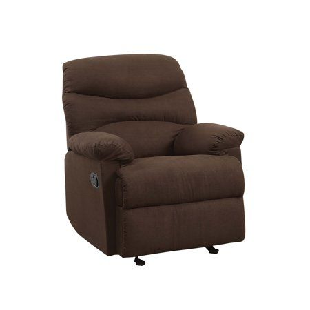 Tremendous Acme Oakwood Microfiber Recliner Chocolate Shopping Pdpeps Interior Chair Design Pdpepsorg