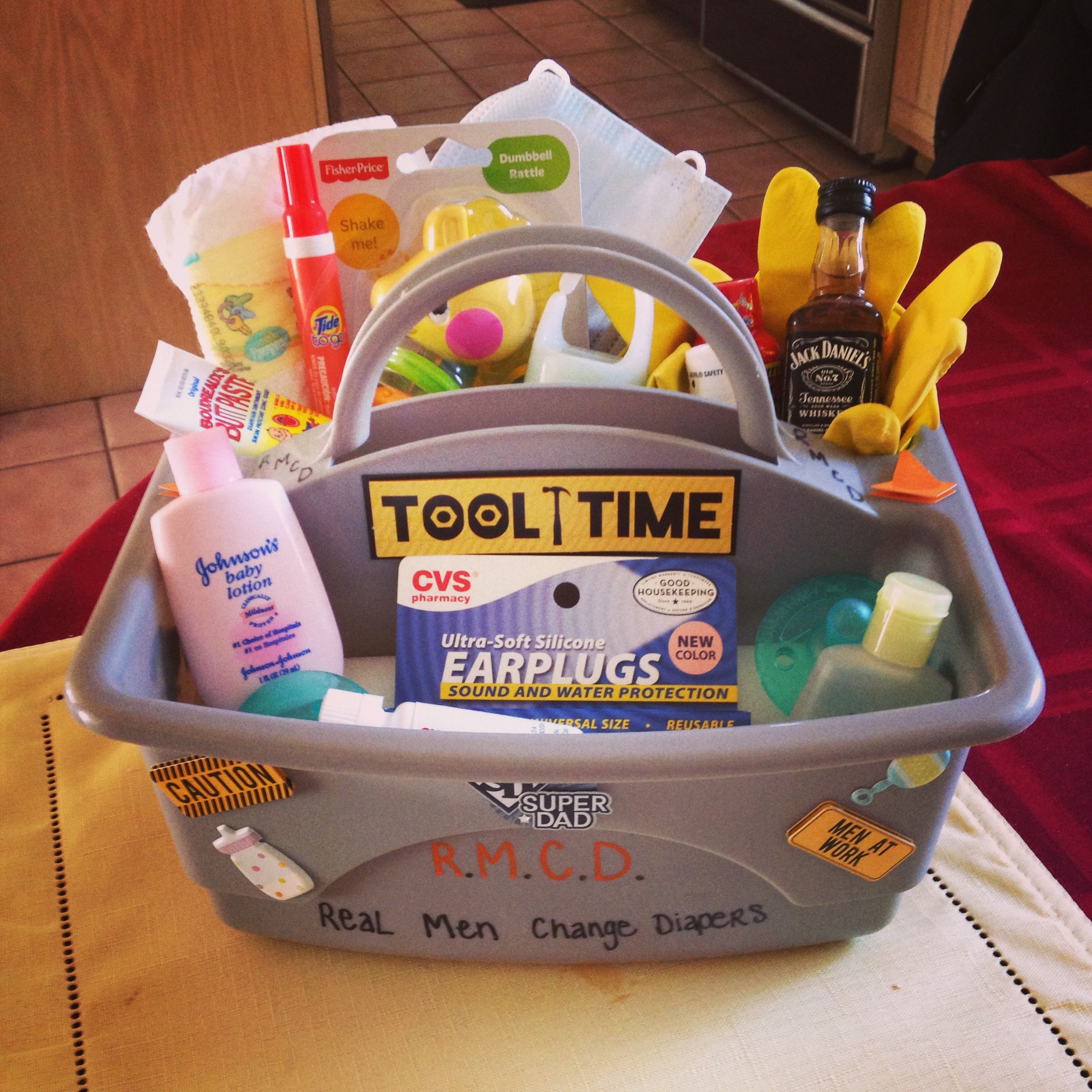 Mens Baby Shower Rmcd Real Men Change Diapers A Daddy Toolbox To Give To Daddy S To Be Contents D Baby Shower Dad Daddy Baby Shower Baby Shower Gifts