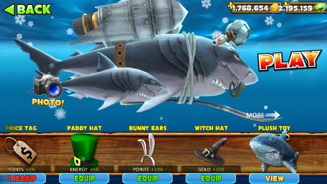 скачать читы на деньги в игре hungry shark