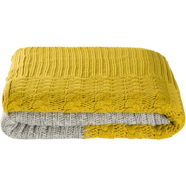 Mustard Yellow Throw Blanket Alluring Danilo Mustard Throw ❤ Liked On Polyvore Featuring Home Bed & Bath Design Decoration