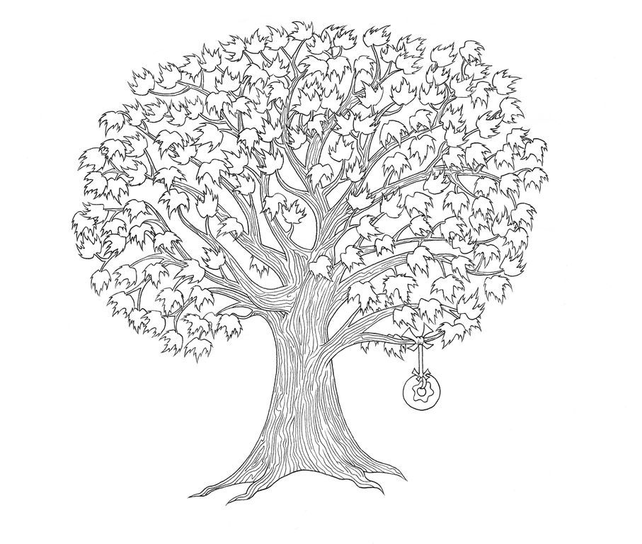 Fall Maple Tree Coloring Pages Free Coloring Pages Of Tree Of