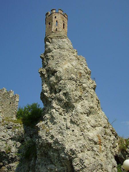 "The amazing Devin castle, Panenská veža (""Virgin tower""), in Slovakia. Photo by Ladislav Kováč."