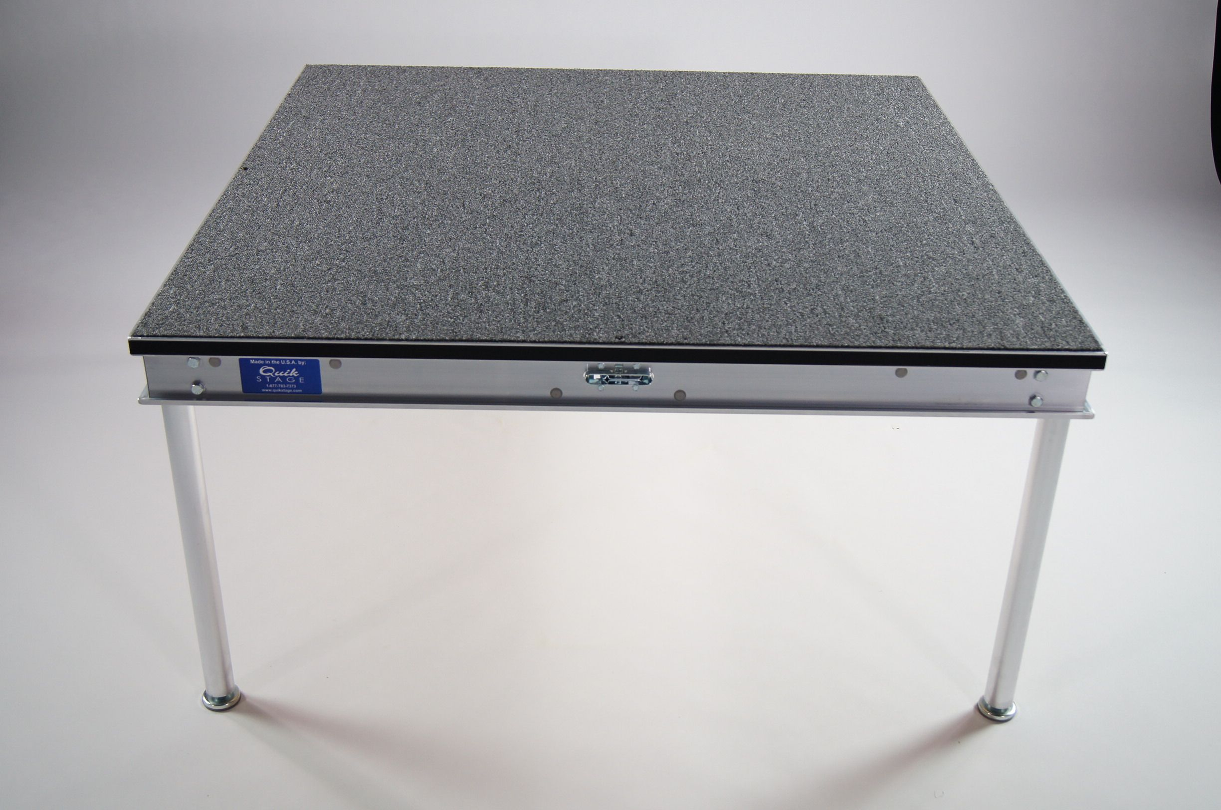 Carpet Option Portable Stage Deck With The Carpeted Surface From Quik Stage Portablestage Stage Staging Events Band Church Portable Stage Staging Home